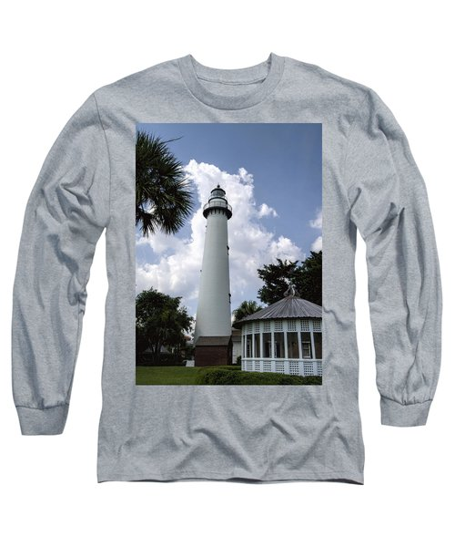 St. Simon's Island Georgia Lighthouse Long Sleeve T-Shirt