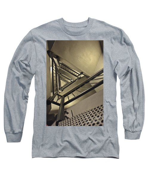 Long Sleeve T-Shirt featuring the photograph Stairing Up The Spinnaker Tower by Terri Waters
