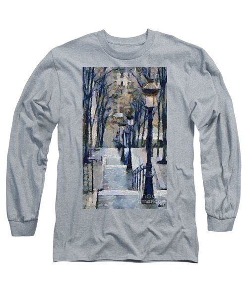 Stairs With Lamps Long Sleeve T-Shirt