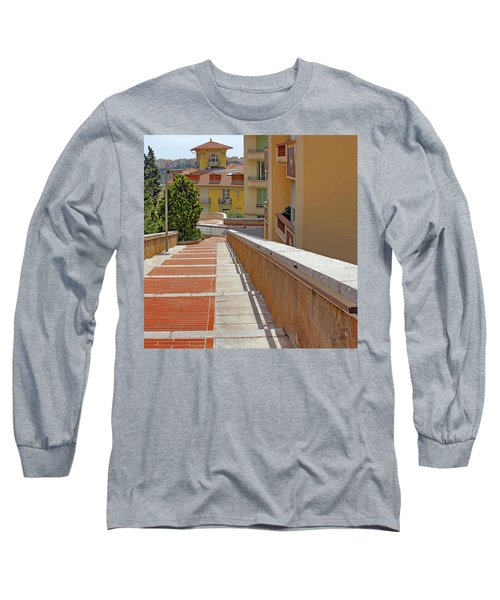 Stairway In Monaco French Riviera Long Sleeve T-Shirt