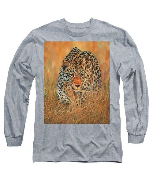 Stalking Leopard Long Sleeve T-Shirt