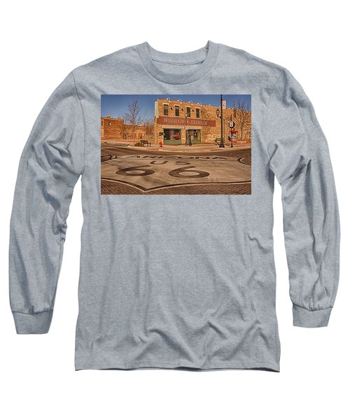 Standin' On The Corner Park Long Sleeve T-Shirt by Priscilla Burgers