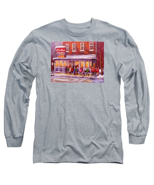 Standing In Line At The Chateau Long Sleeve T-Shirt