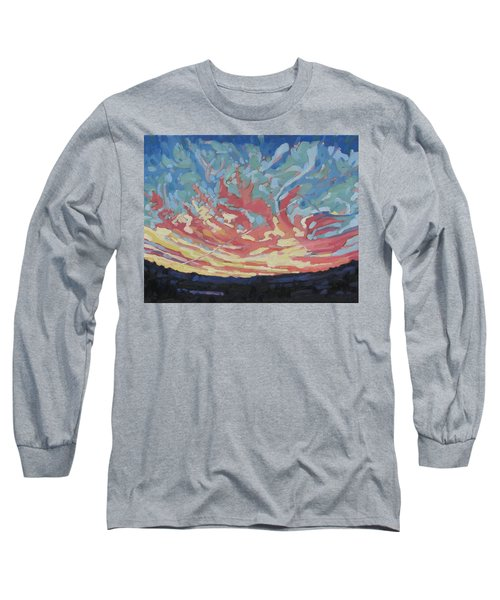 Standing Outside The Fire Long Sleeve T-Shirt by Phil Chadwick