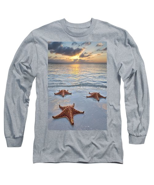 Starfish Beach Sunset Long Sleeve T-Shirt