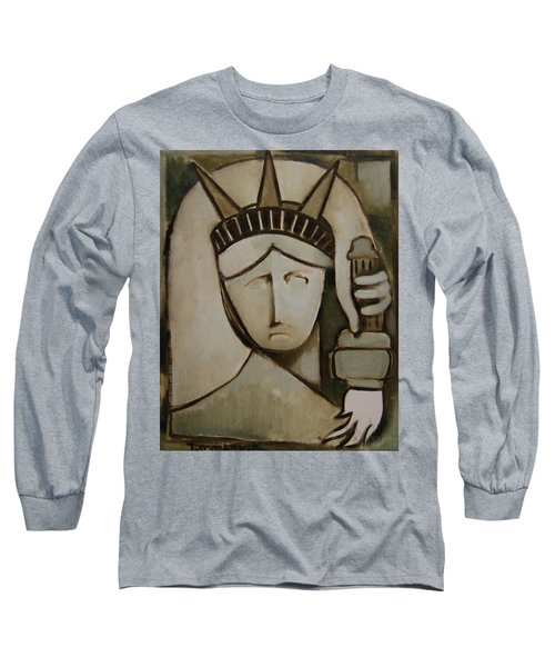 Tommervik Abstract Statue Of Liberty Art Print Long Sleeve T-Shirt