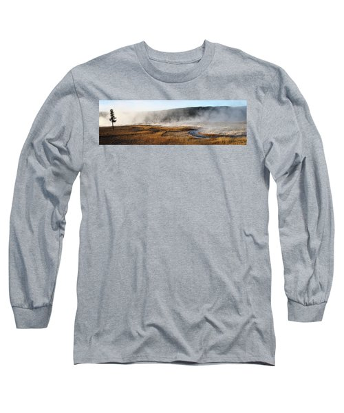 Long Sleeve T-Shirt featuring the photograph Steam Creek by David Andersen