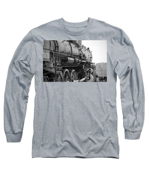 Steam Locomotive 1519 - Bw 02 Long Sleeve T-Shirt