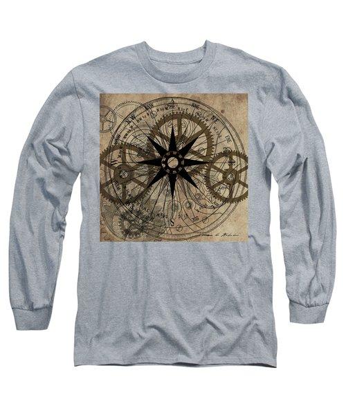 Steampunk Gold Gears II  Long Sleeve T-Shirt