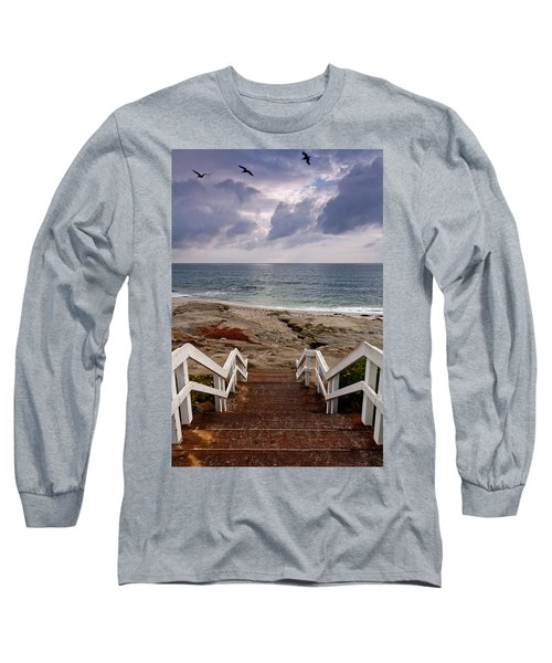 Steps And Pelicans Long Sleeve T-Shirt