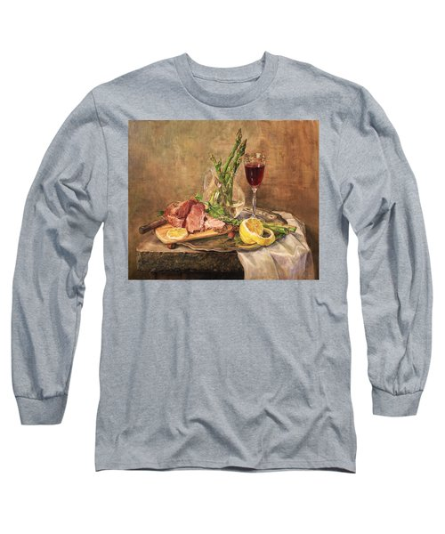 Still Life With Asparagus Long Sleeve T-Shirt