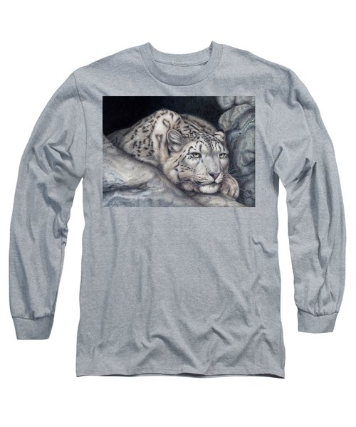 Long Sleeve T-Shirt featuring the painting Stillnes Like A Stone by Pat Erickson