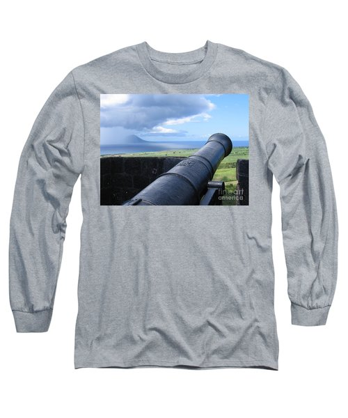 Long Sleeve T-Shirt featuring the photograph St.kitts Nevis - On Guard by HEVi FineArt