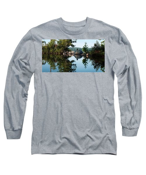 Long Sleeve T-Shirt featuring the photograph Stone Stacking by Joy Nichols