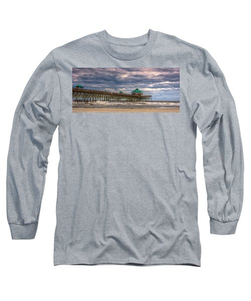 Storm Clouds Approaching - Hdr Long Sleeve T-Shirt