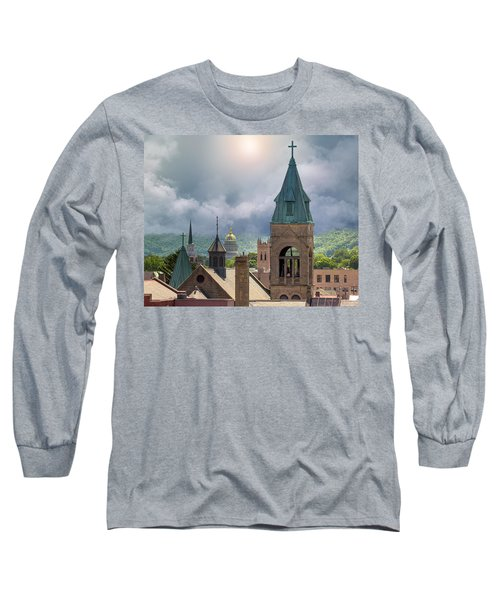 Storm Clouds In Charleston Wv Long Sleeve T-Shirt by Mary Almond