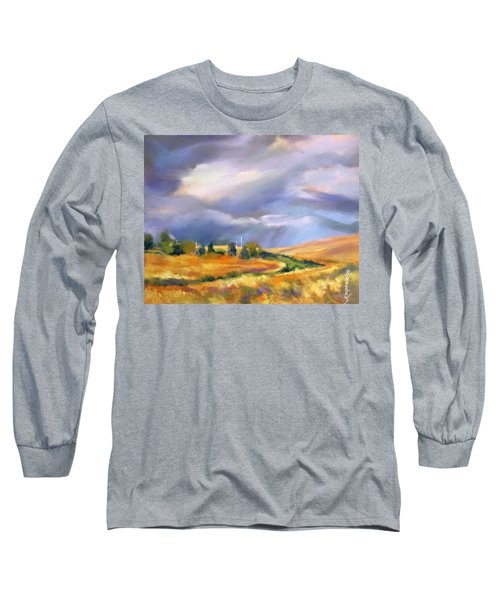 Long Sleeve T-Shirt featuring the painting Storm Colors by Rae Andrews