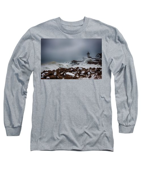 Storm Off Eastern Point Lighthouse Long Sleeve T-Shirt