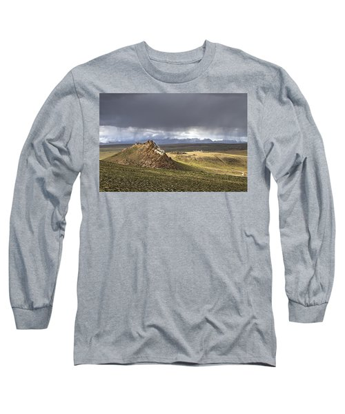 Long Sleeve T-Shirt featuring the photograph Storm Over Chiu Monastery, Chiu, 2011 by Hitendra SINKAR