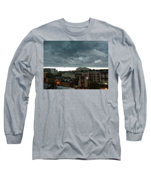 Storm Over West Chester Long Sleeve T-Shirt by Ed Sweeney