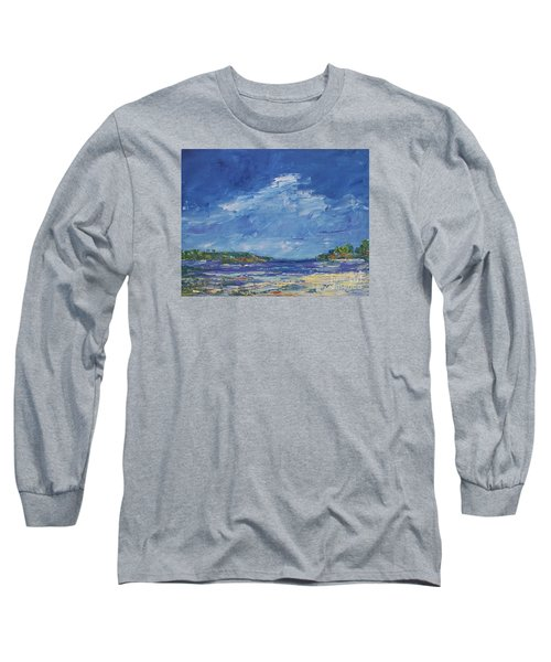 Stormy Day At Picnic Island Long Sleeve T-Shirt by Gail Kent