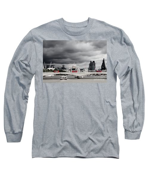 Stormy Skies Over London Long Sleeve T-Shirt