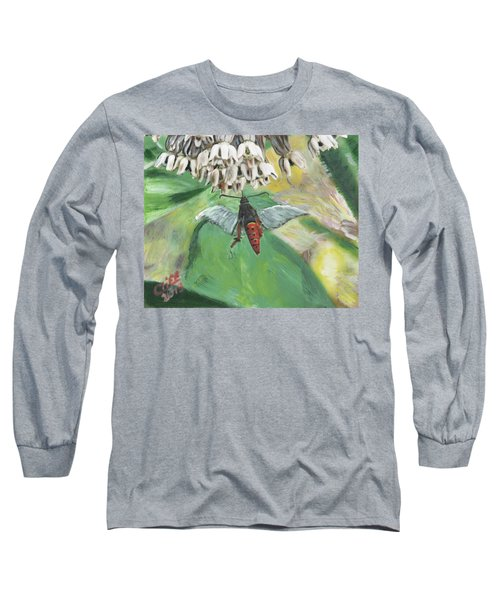 Strange Bug At Flowers Long Sleeve T-Shirt