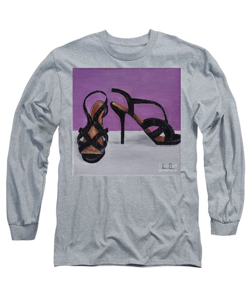 Strappy Black Heels For Maddy Long Sleeve T-Shirt