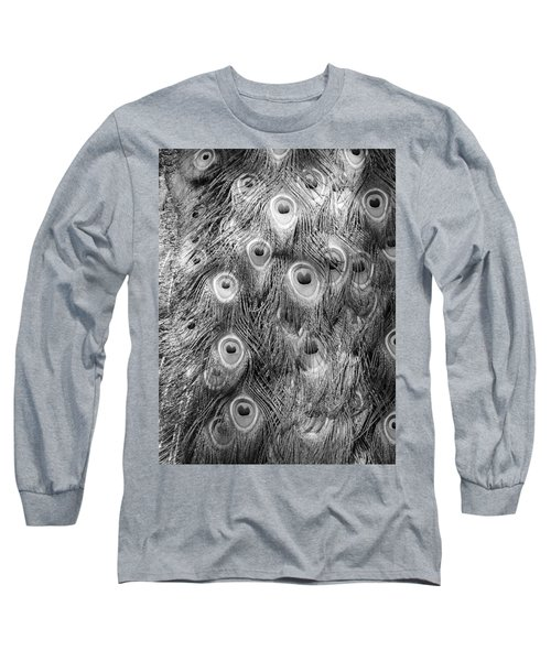 Long Sleeve T-Shirt featuring the photograph Stream Of Eyes - Black And White by Diane Alexander