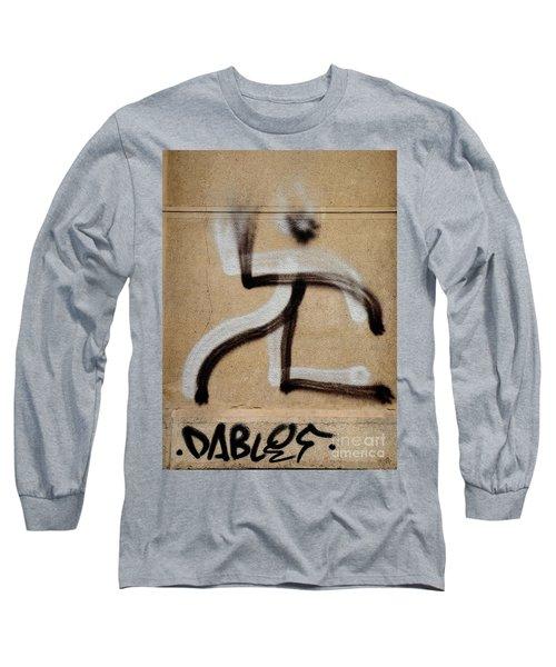 Long Sleeve T-Shirt featuring the photograph Street Art 'dablos' Graffiti In Bucharest Romania  by Imran Ahmed