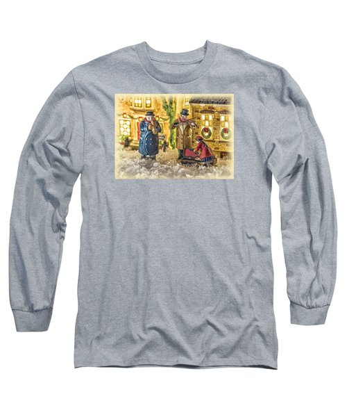 Street Musicians Long Sleeve T-Shirt by Caitlyn  Grasso