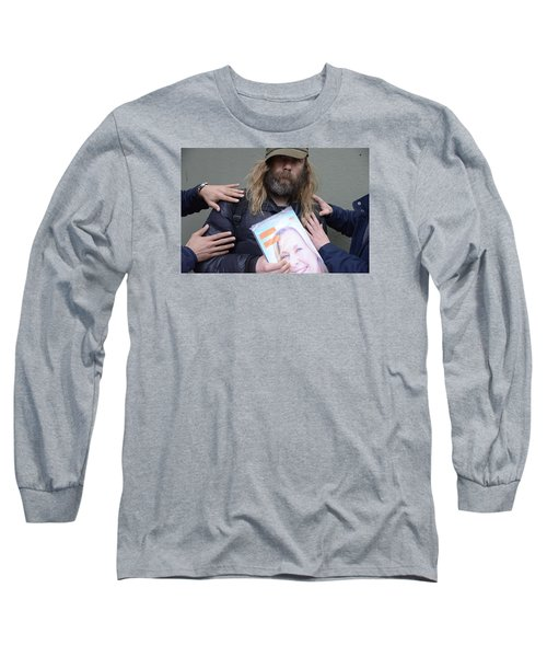 Long Sleeve T-Shirt featuring the photograph Street People - A Touch Of Humanity 12 by Teo SITCHET-KANDA