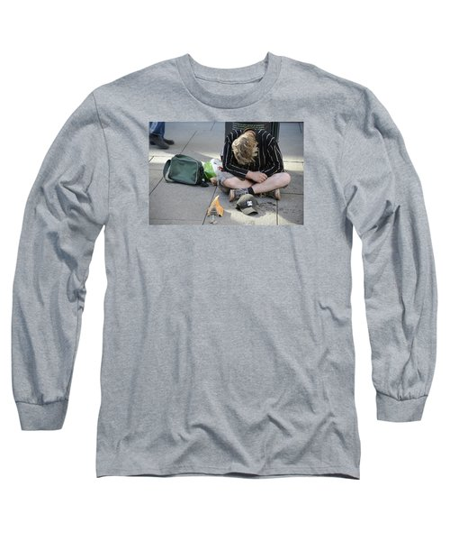 Street People - A Touch Of Humanity 8 Long Sleeve T-Shirt by Teo SITCHET-KANDA