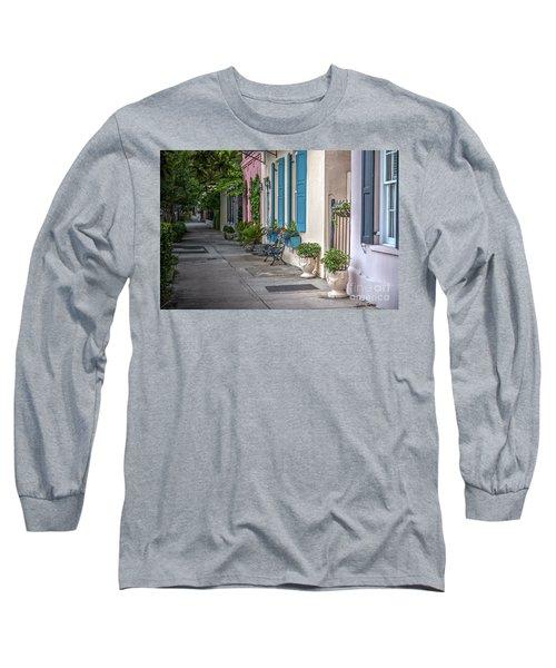 Strolling Down Rainbow Row Long Sleeve T-Shirt