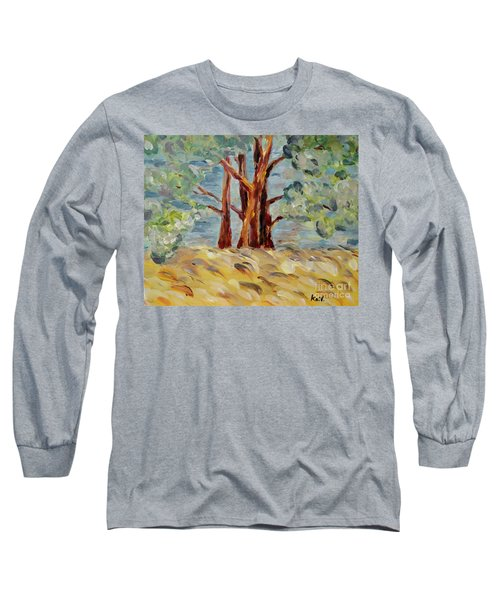 Long Sleeve T-Shirt featuring the painting Summer Afternoon by Maria Langgle