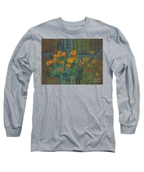 Long Sleeve T-Shirt featuring the painting Summer Flowers by Donald Maier