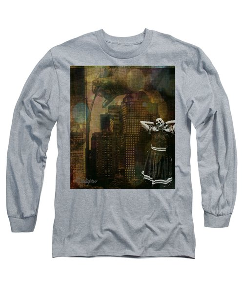 Long Sleeve T-Shirt featuring the digital art Summer In The City by Delight Worthyn