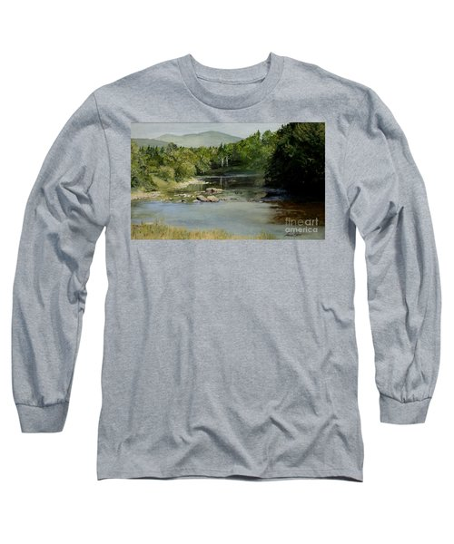 Summer On The River In Vermont Long Sleeve T-Shirt