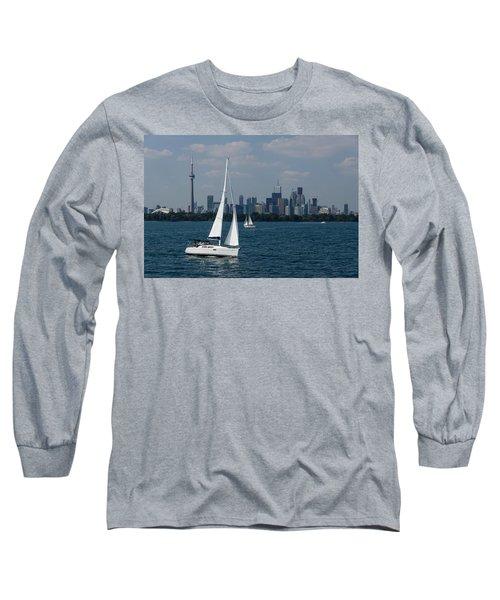 Summer Sailing Postcard From Toronto Long Sleeve T-Shirt