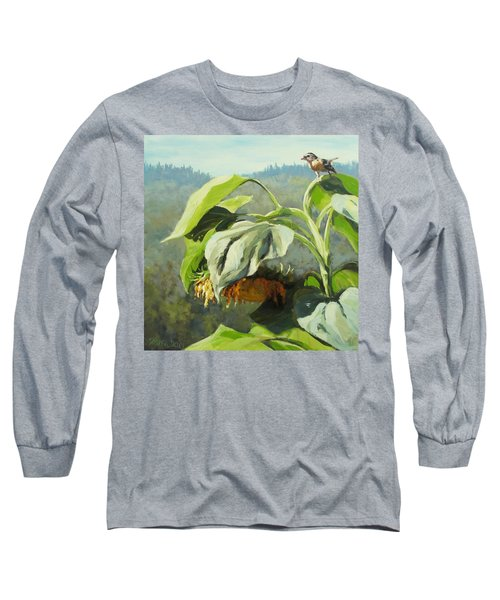 Long Sleeve T-Shirt featuring the painting Summer Sun by Karen Ilari