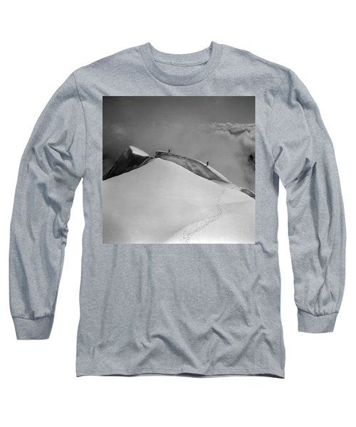 T-702412-bw-summit Of Mt. Robson Long Sleeve T-Shirt