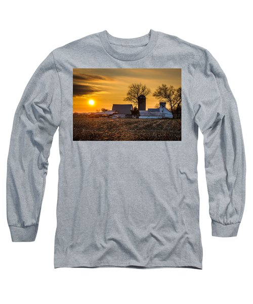 Sun Rise Over The Farm Long Sleeve T-Shirt