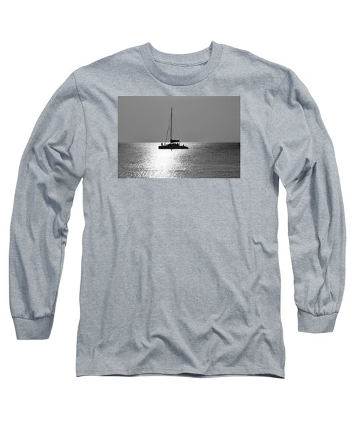 Sundown Sail Long Sleeve T-Shirt by Amar Sheow