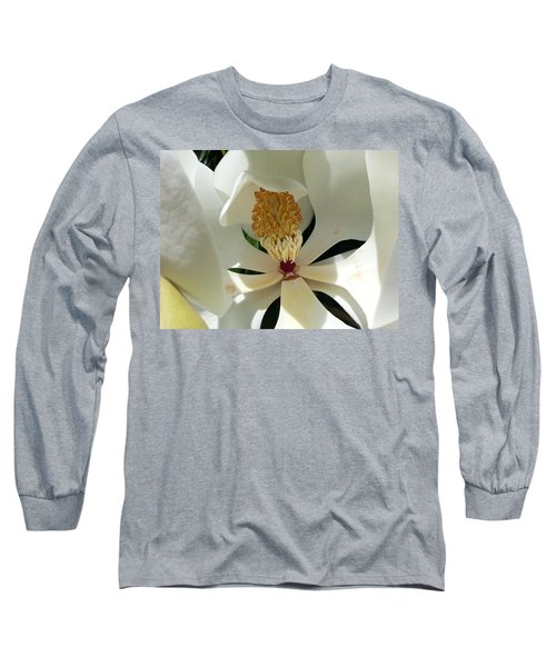 Long Sleeve T-Shirt featuring the photograph Sunny And Shy Magnolia by Caryl J Bohn