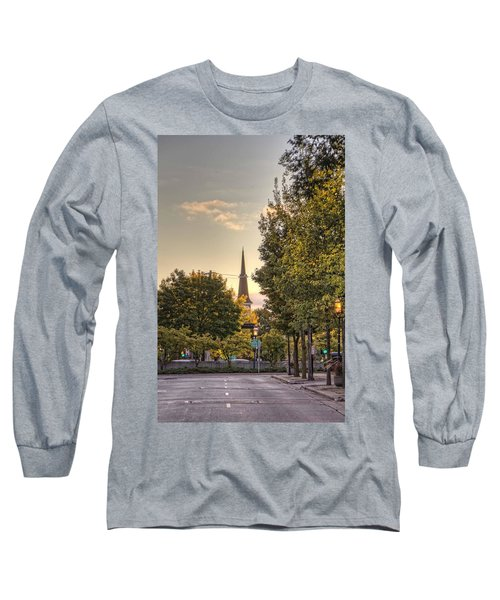 Sunrise At The End Of The Street Long Sleeve T-Shirt by Daniel Sheldon