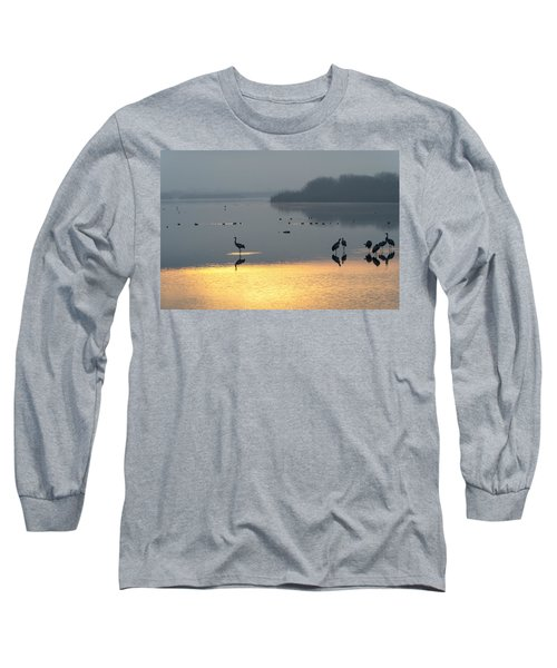 Sunrise Over The Hula Valley Israel 1 Long Sleeve T-Shirt