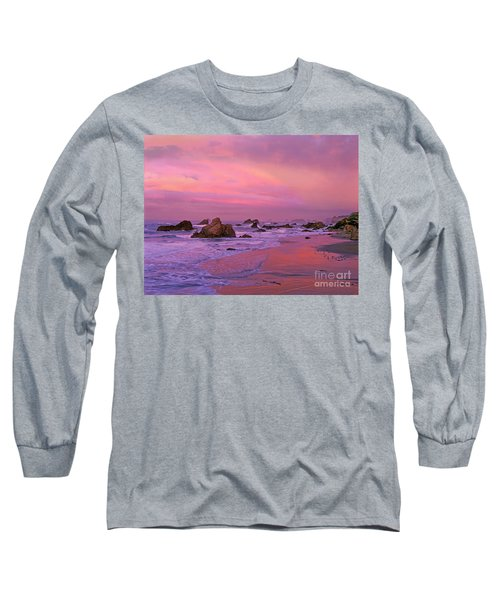 Long Sleeve T-Shirt featuring the photograph Sunrise On Sea Stacks Harris Sb Oregon by Dave Welling