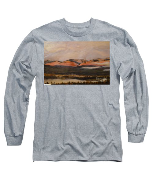 Long Sleeve T-Shirt featuring the painting Sunrise On The Ibex Valley by Brian Boyle