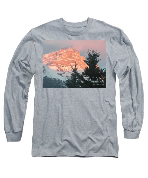 Long Sleeve T-Shirt featuring the photograph Sunrise On The Mountain by Ann E Robson