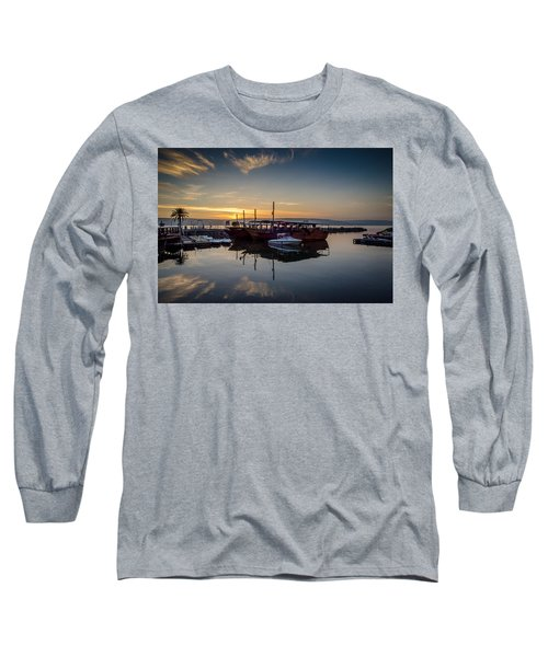Sunrise Over The Sea Of Galilee Long Sleeve T-Shirt